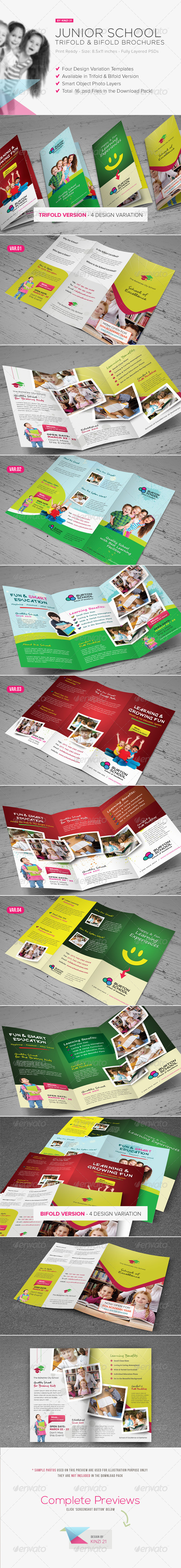 GraphicRiver Junior School Trifold & Bifold Brochures 5029430