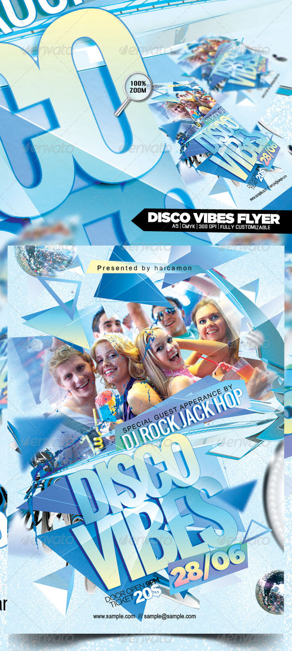 Disco Vibes Flyer - Clubs & Parties Events