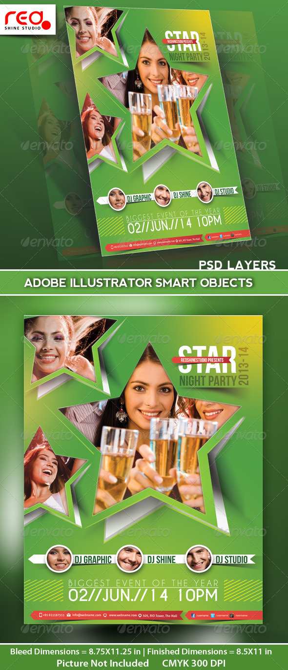 GraphicRiver Party Flyer Poster Magazine Template 5030770
