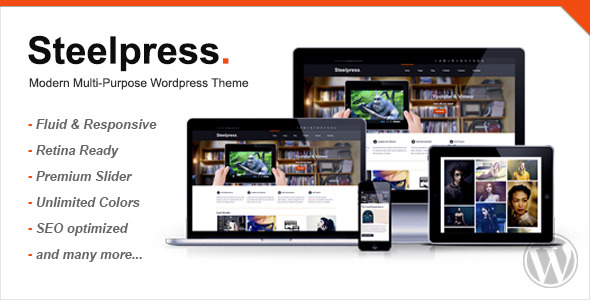 Steelpress - Modern Multi-Purpose Wordpress Theme