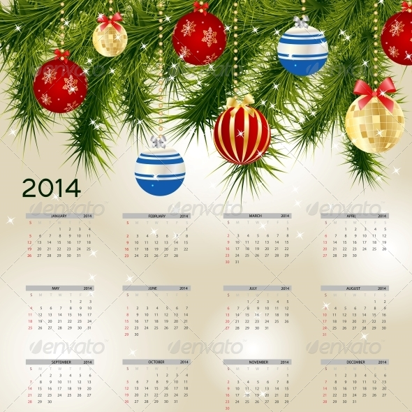 GraphicRiver 2014 New Year Calendar 5030771