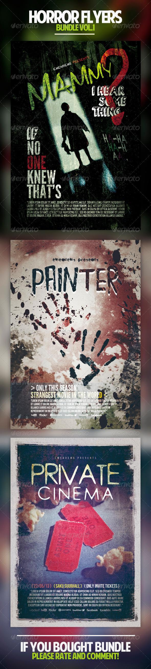 GraphicRiver Horror Flyers Bundle Vol.1 5031098