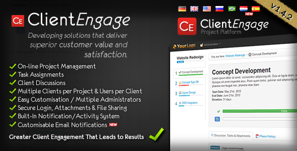 ClientEngage Project Platform - CodeCanyon Item for Sale