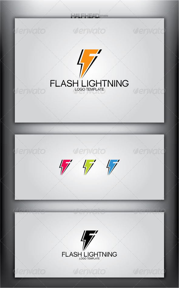 GraphicRiver Flash Lightning Logo Template 5031279