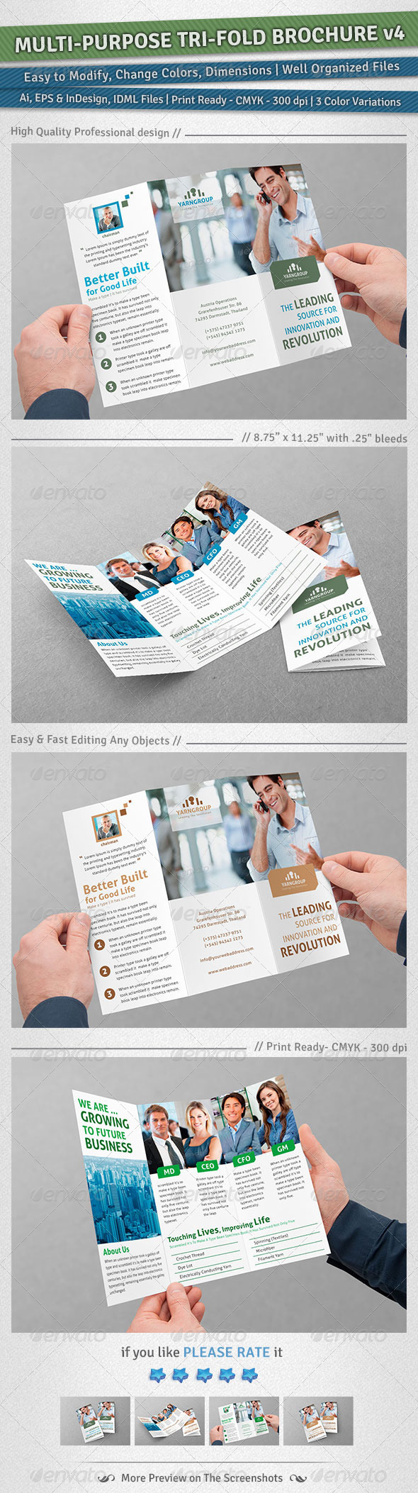 GraphicRiver Multi-purpose Tri-Fold Brochure Volume 4 5031498