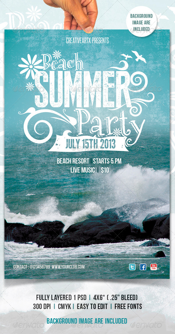 GraphicRiver Beach Summer Party 5031516