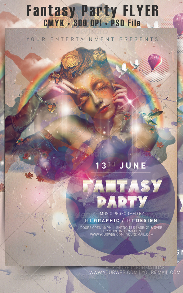 GraphicRiver Fantasy Party Flyer 5032597