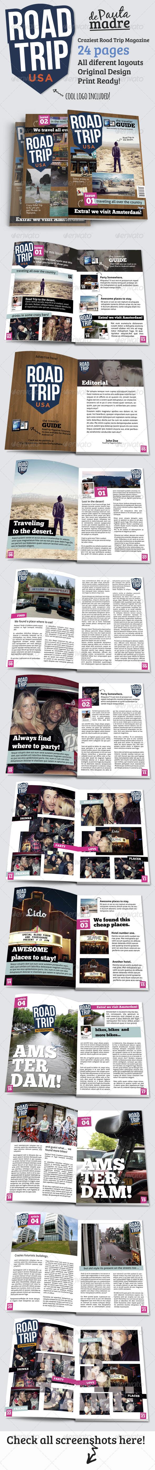 GraphicRiver Road Trip Magazine Template 5032624