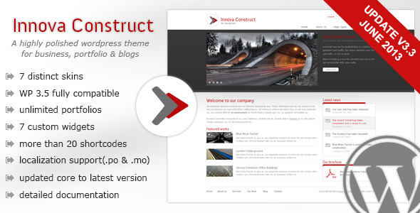 Innova Construct Wordpress - Corporate WordPress