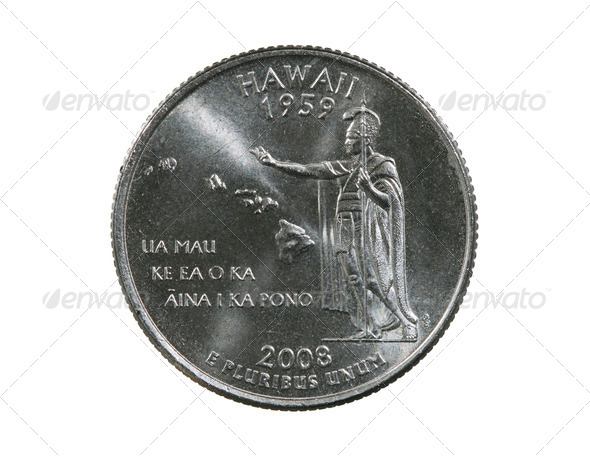 Hawaii State Quarter - Stock Photo - Images