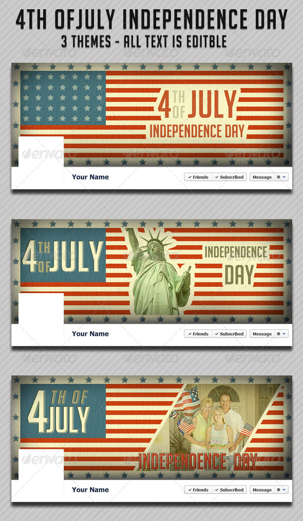GraphicRiver 4th of July Fb Timeline 4972928