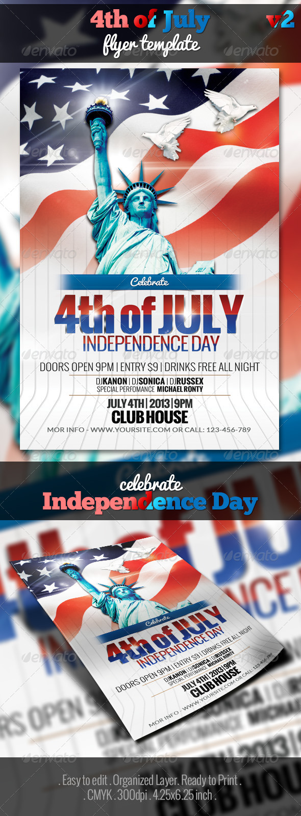 GraphicRiver 4th of July Flyer Template v2 5034510