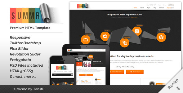 ThemeForest Summr Responsive Business HTML Template 5034623