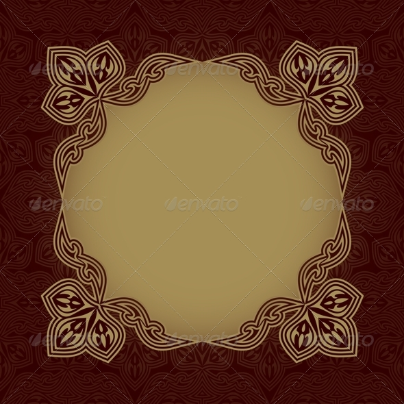 GraphicRiver Dark Red Patterned Background 5035356