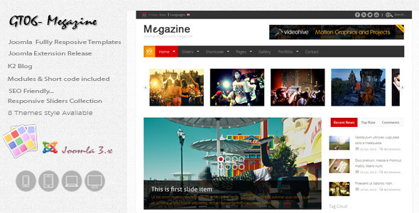 ThemeForest GT06 Multipurpose Responsive Joomla3 templates 5034395