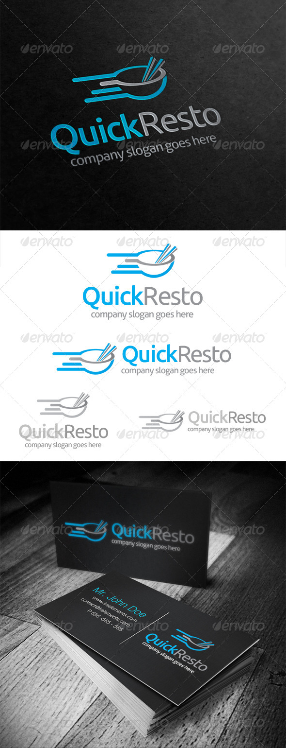 GraphicRiver Quick Resto Logo 5035656