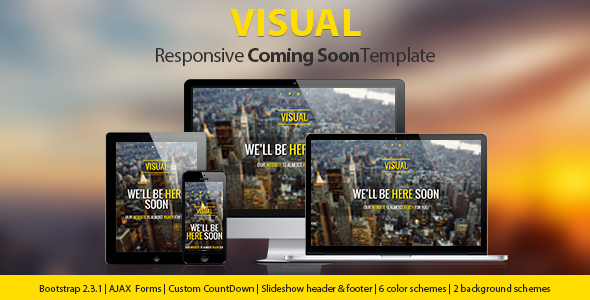 Visual - Responsive Coming Soon Page - Under Construction Specialty Pages