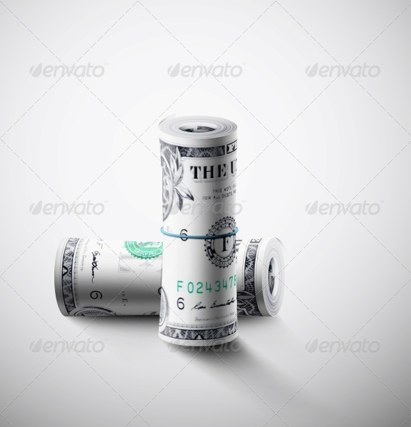 GraphicRiver Two Rolls of Dollars 5036653