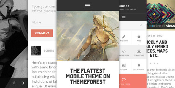 ThemeForest HUNTER A flat & classy WP theme by Bonfire 5037024