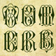 Gothic Style Monograms Starting with Letter B - GraphicRiver Item for Sale