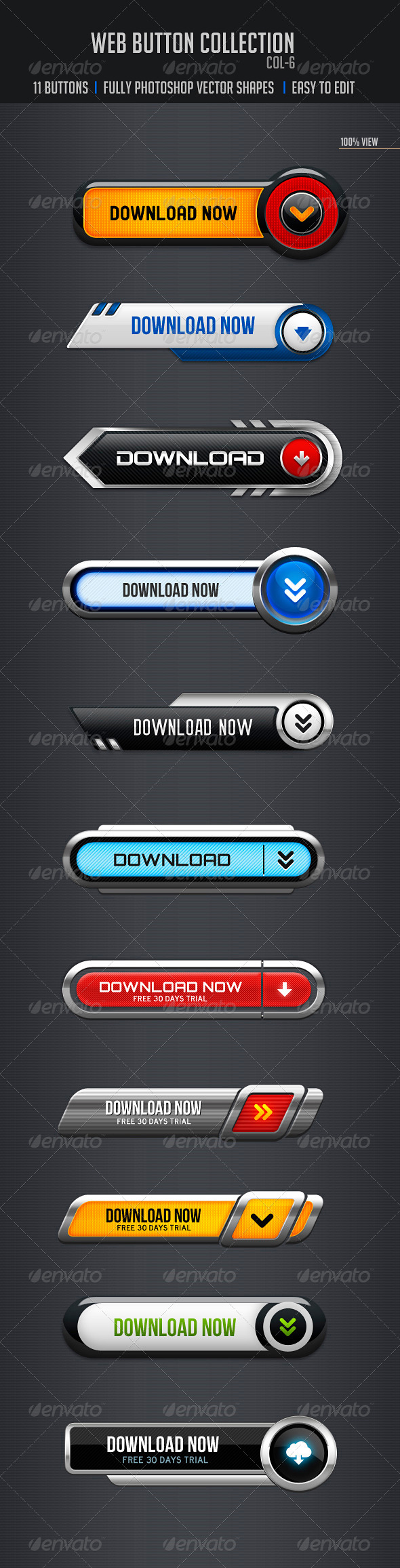 GraphicRiver Web Buttons Col-6 5037303
