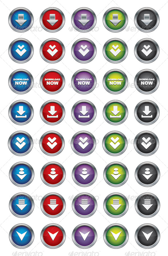 GraphicRiver Download Buttons 5037770