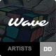 Wave - WordPress Theme for Artists - ThemeForest Item for Sale