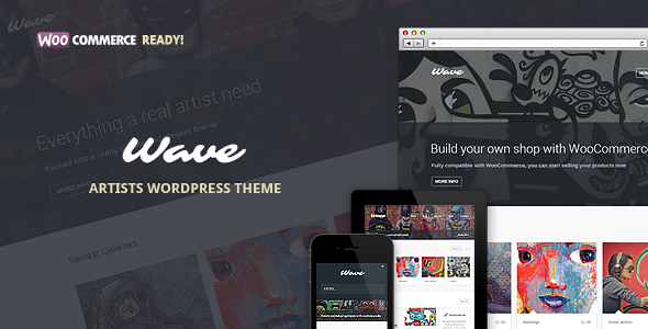 ThemeForest Wave WordPress Theme for Artists 5038373