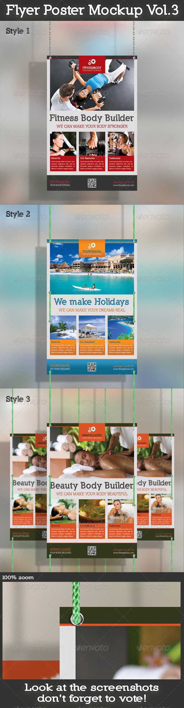 GraphicRiver Flyer Mockup Vol.3 5039376