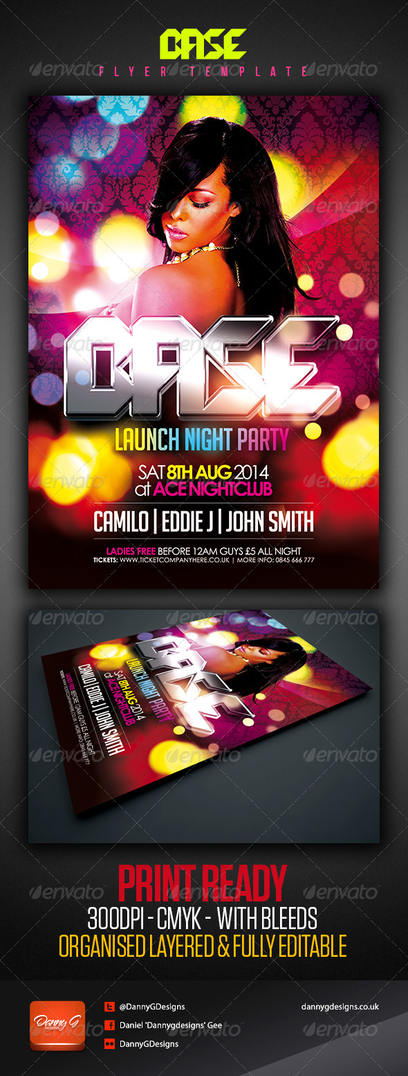 Base Nightclub/Party Flyer Template - Clubs & Parties Events