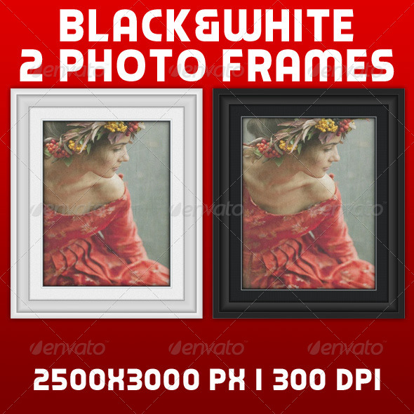 GraphicRiver White and Black Photo Frames 5039479