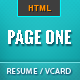 Page One - Responsive Vcard Resume HTML Template - ThemeForest Item for Sale