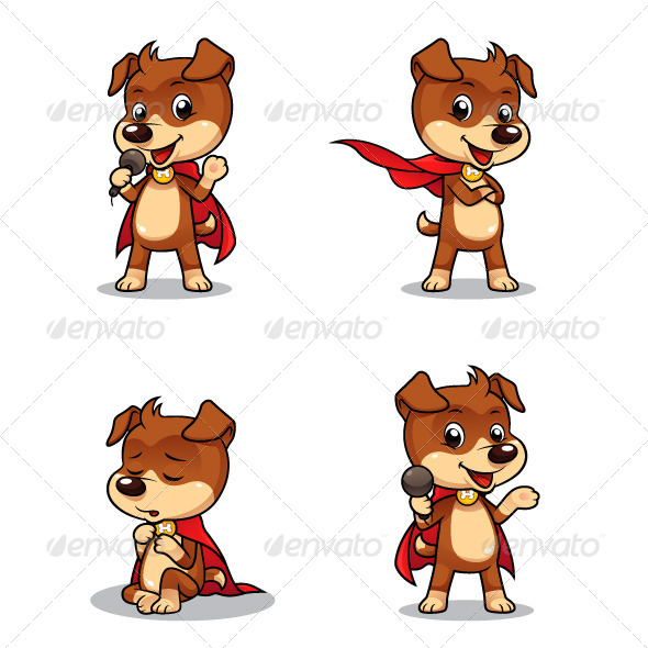 GraphicRiver Superhero Puppy Dog 01 5039526