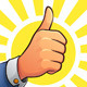 Thumb Up of Success - GraphicRiver Item for Sale
