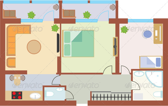 GraphicRiver Apartment Drawing 5039884