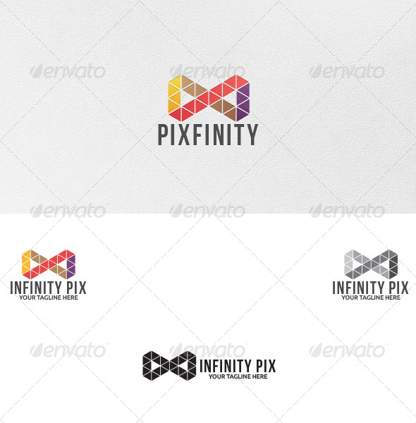 GraphicRiver Infinity Pixels Logo Template 5040657