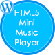 HTML5 Mini Music Player met een playlist - WP Plugin - WorldWideScripts.net Item te koop