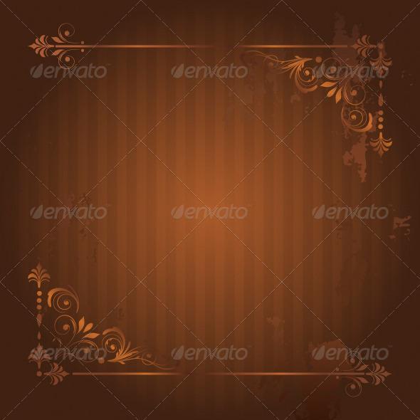 GraphicRiver Vintage Frame on Grunge Background 5041065