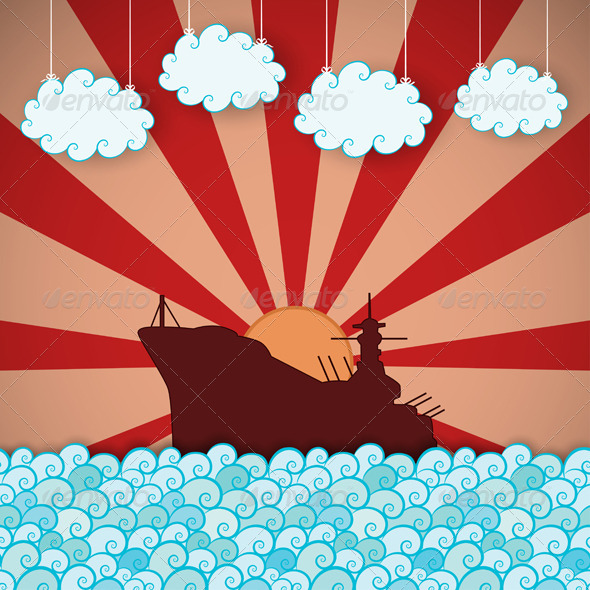GraphicRiver Retro Poster of Battleship 5042268
