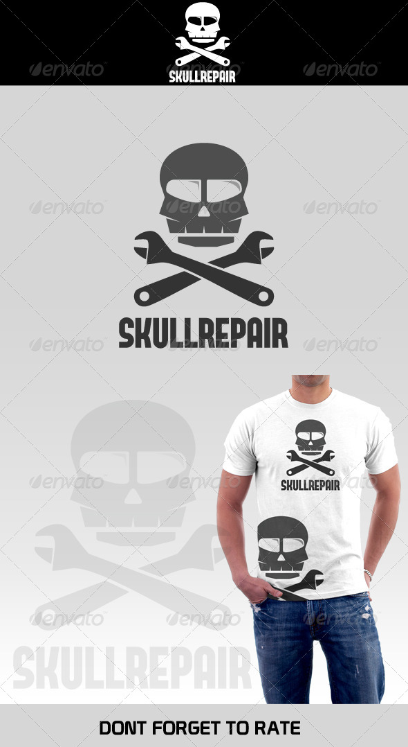 Skull Repair Shop Logo Template - Humans Logo Templates