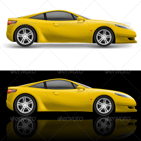 GraphicRiver Yellow Sport Car 5042733