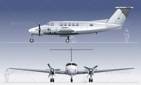 GraphicRiver Vector Civil Utility Aircraft 5042838