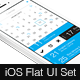 iOS Flat UI Set - GraphicRiver Item for Sale