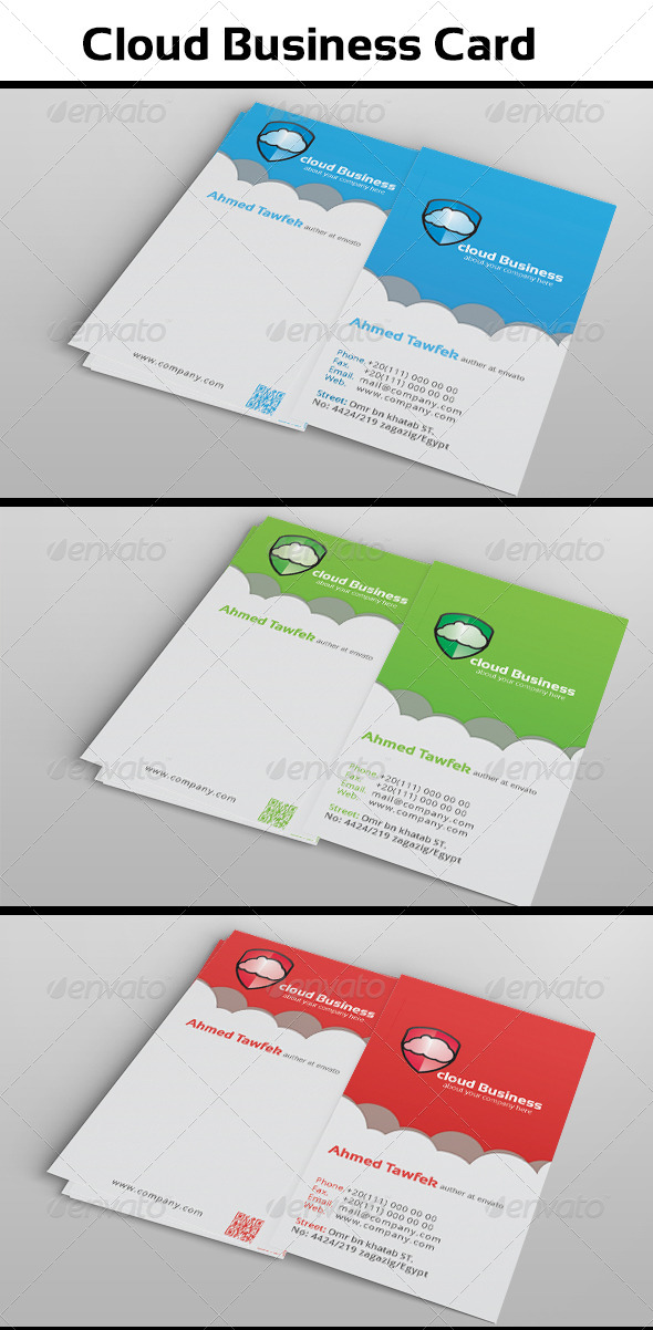 GraphicRiver Cloud Business Card 5043159