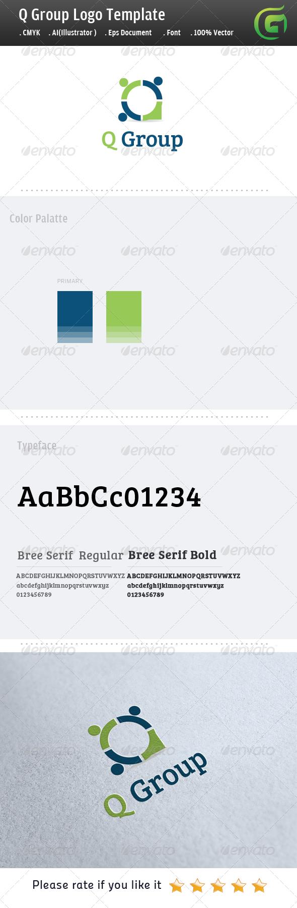 GraphicRiver Q Group Logo 5043509