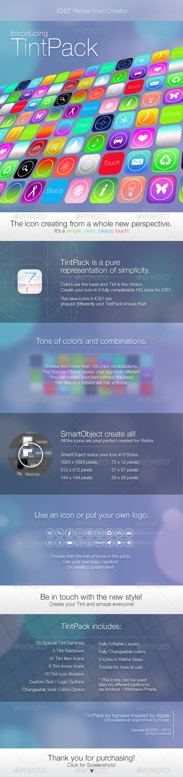 GraphicRiver iOS7 Retina Icon Creator TintPack 4978103