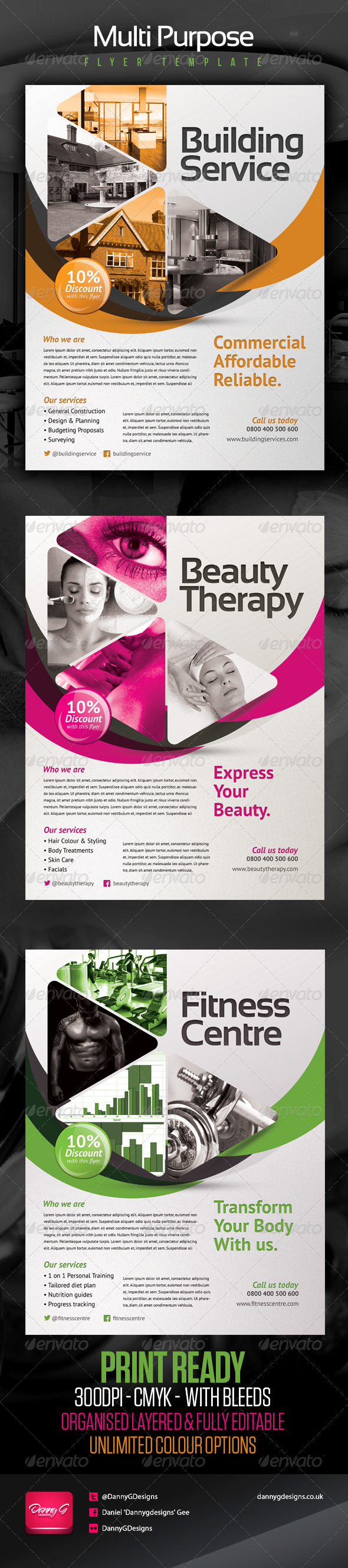 GraphicRiver Multipurpose Flyer Template 4985912