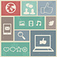 Set with Social Media Labels - GraphicRiver Item for Sale