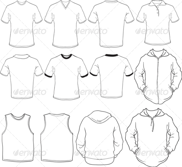 GraphicRiver Male Blank Shirts Template 5035302