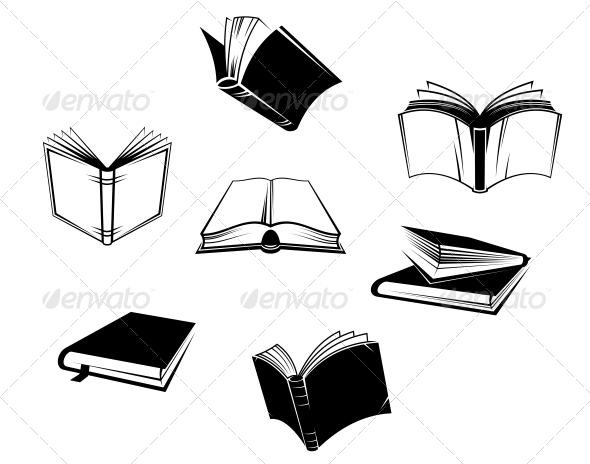 GraphicRiver Books Icons and Symbols 5046534